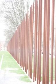 sur le tracé du Mur